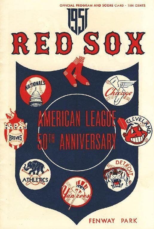 Boston Red Sox 1951 Print Vintage Baseball Poster Retro