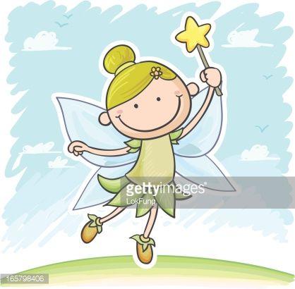 Little Angel celestial in cartoon style