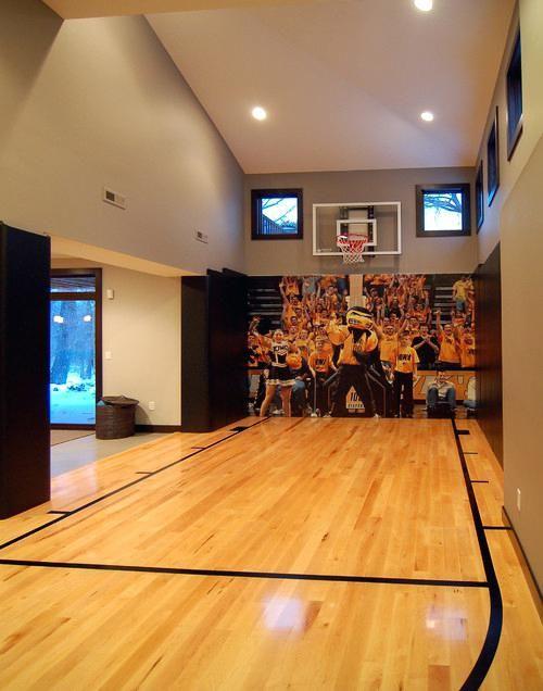 Terrain De Basket à Domicile Decoration Cuisine Home Basketball Court Basketball Room House