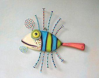sculpture wall art fish