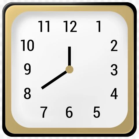 Realistic Square Golden And White Wall Clock With Classic Style Isolated On Transparent Background Png In 2021 White Wall Clocks Wall Clock Clock