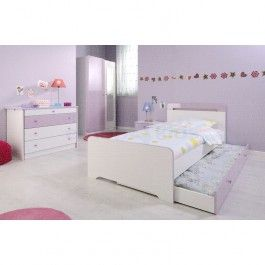 PROMOPACK Peuterbed Mademoiselle + 2-deurskast + rolbed + nachttafel + comode + buro 718,20 EUR Geen matras of latoflex