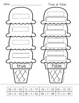 First Grade: Ice Cream Addition and Subtraction | Activities, The ...