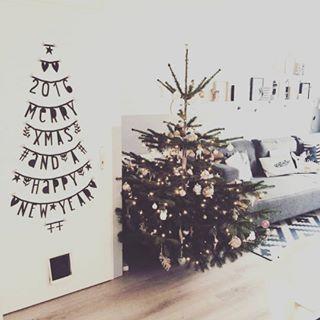 #Wordbanner #tip: Christmastree on the wall - Buy it at www.vanmariel.nl - € 11,95