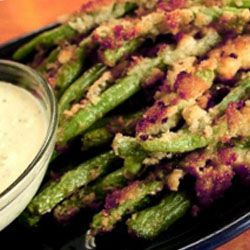 Fried Green Beans with Horseradish Sauce