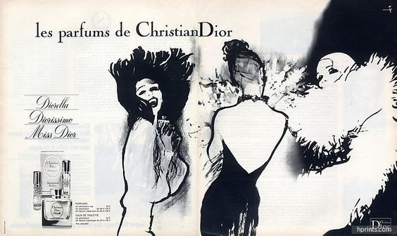 Christian Dior (Perfumes) 1975 Diorella, Diorissimo, Miss Dior, René Gruau