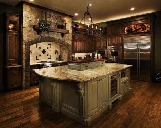 Old world charm old world and dark wood on pinterest for Tuscan floors