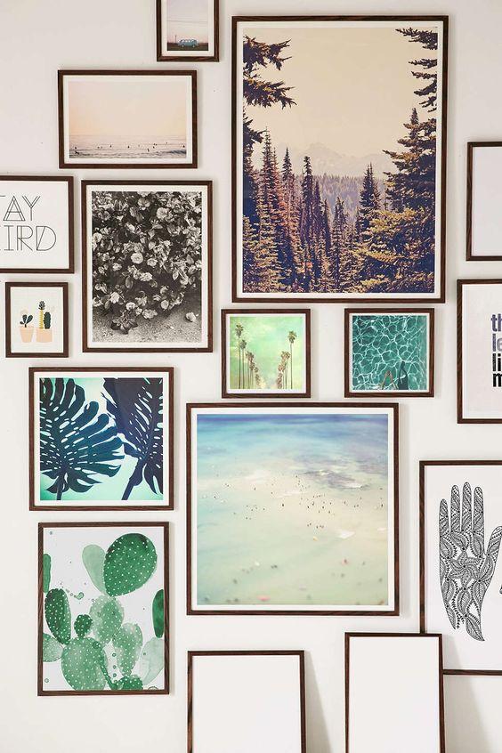 Walnut Wood Art Print Frame - Urban Outfitters
