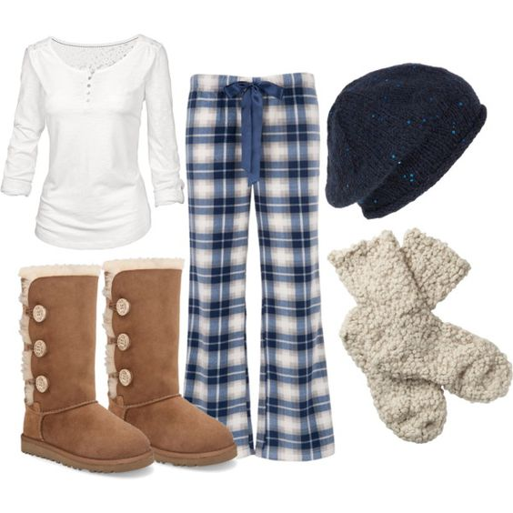 U0026quot;Blue Christmas Outfitu0026quot; by debbiejoreed on Polyvore | My Style | Pinterest | Cute pajamas Lazy ...