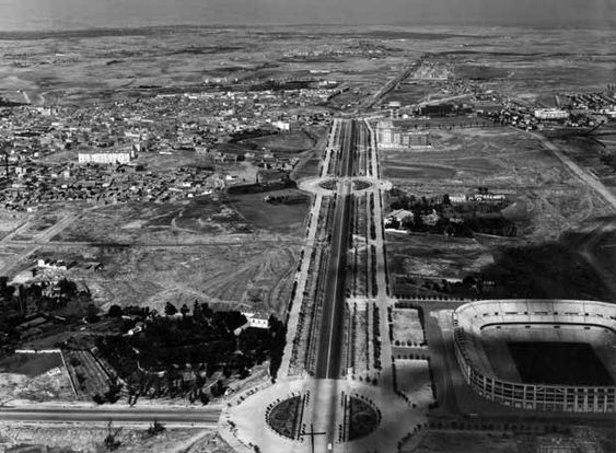 La Castellana y el Bernabeu. (Madrid, principios S.XX)