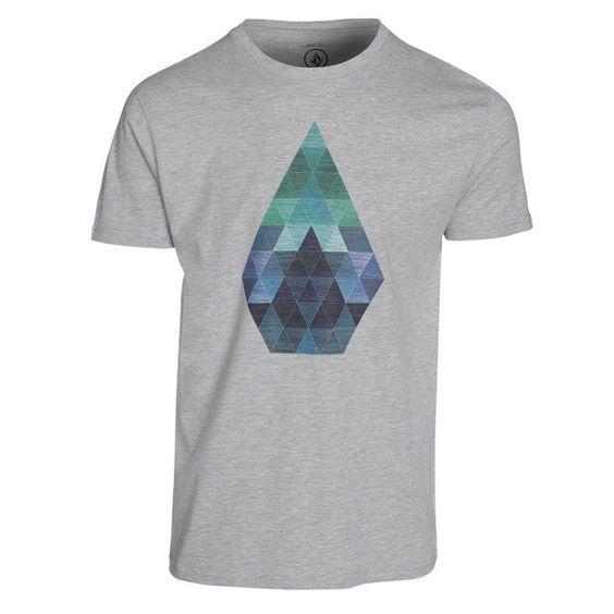 Volcom Herren T-Shirt PRISM BSC S/S - HEATHER GREY  1