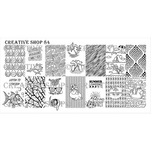 Creative Shop- Stamping Plate- 84