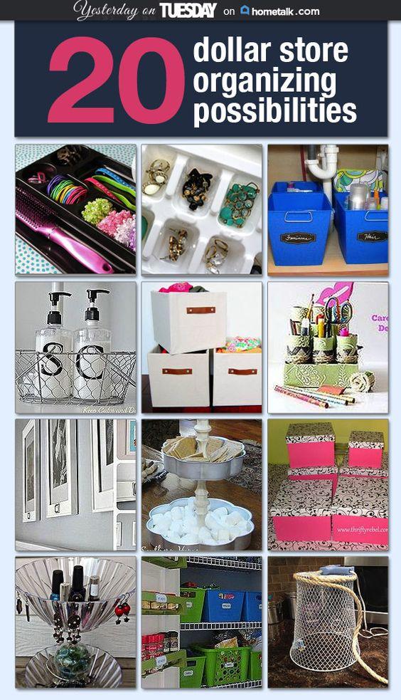 20 clever dollar store organizing ideas Idea Box by Malia