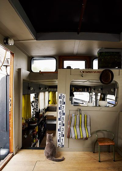 Interior of houseboat
