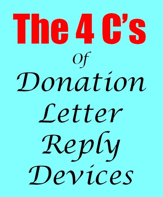 The 4 Cu0027s Of Donation Letter Reply Devices Fundraising - donor list template