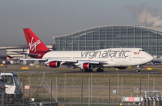 Virgin Atlantic - 747-400 (G-VBIG) LHR. Jan 2012.