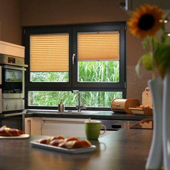 Wabenplissees für #Küche und #Bad Sonnenschutz-Ideen für Küche - schöner wohnen küche