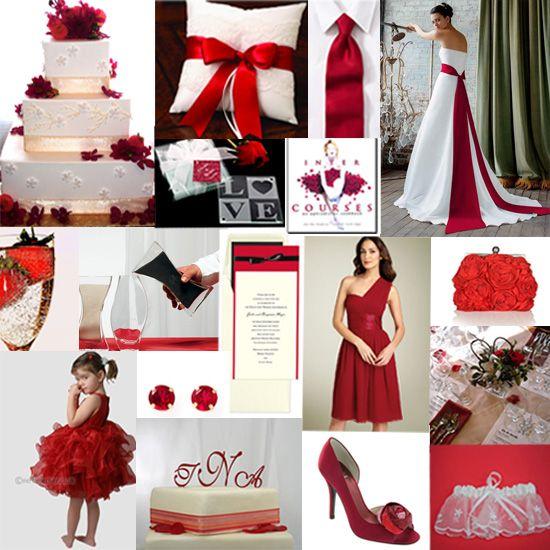 Wwedding theme colors for september modern red wedding for Wedding themes for september