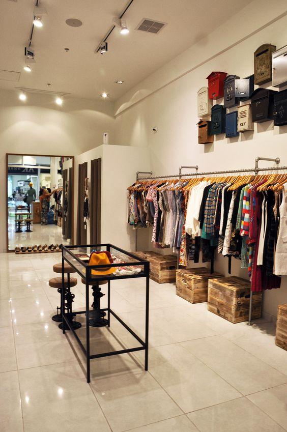 Boutique Shop Design Interior : boutique interior grand canyon color interior fashion boutique wall ...