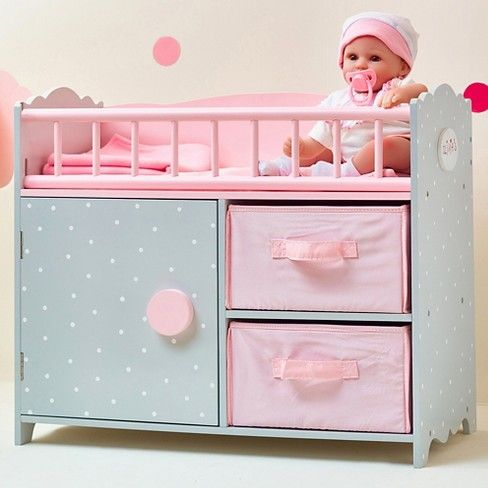 Olivia's Little World - Polka Dots Princess Baby Doll Crib with