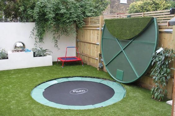 Amazing Ideas For Small Backyard Landscaping Backyard Trampoline Sunken Trampoline Backyard
