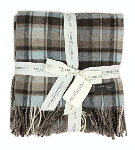 Super Soft 100 Wool Oversized Throw Blanket Brown Black