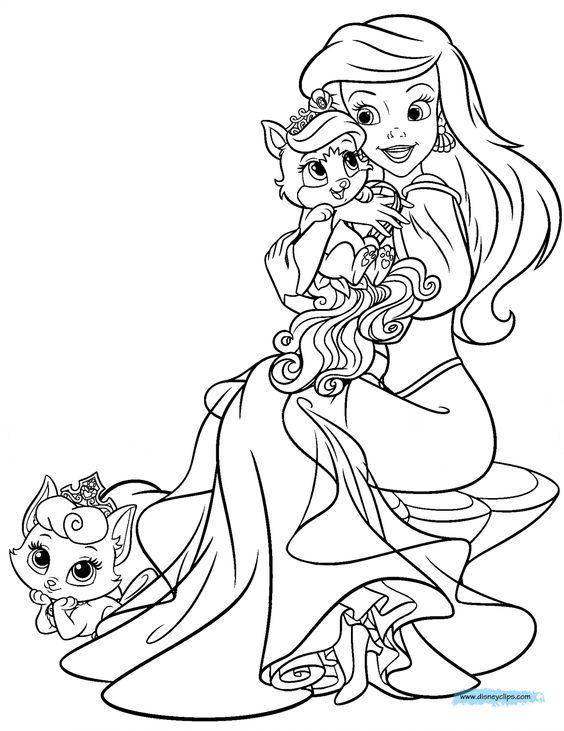Seashell coloring page Disneys Princess Palace Pets Free