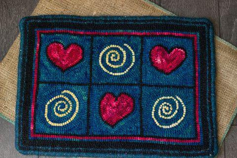 Small hooked rug - loopysupply.com