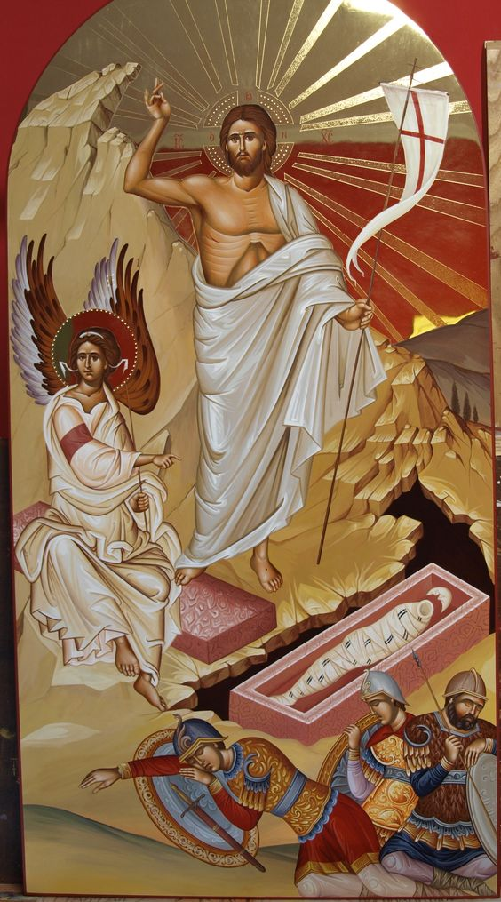 The Risen Christ - Othodox Icon art - Ανάστασις IC XC: