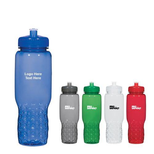 Promotional 32 Oz Hydroclean Sports Bottle With Groove Grippers Sport Bottle Bottle Custom Plastic Water Bottles