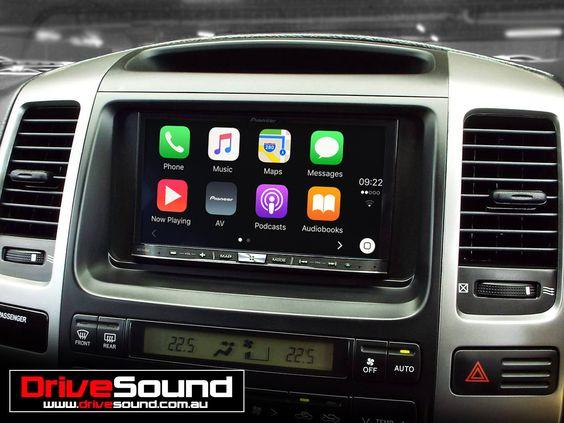 Toyota 120 Series Prado With Apple Carplay Installed By Drivesound Toyota Land Cruiser 100 Apple Car Play Lexus Gx470