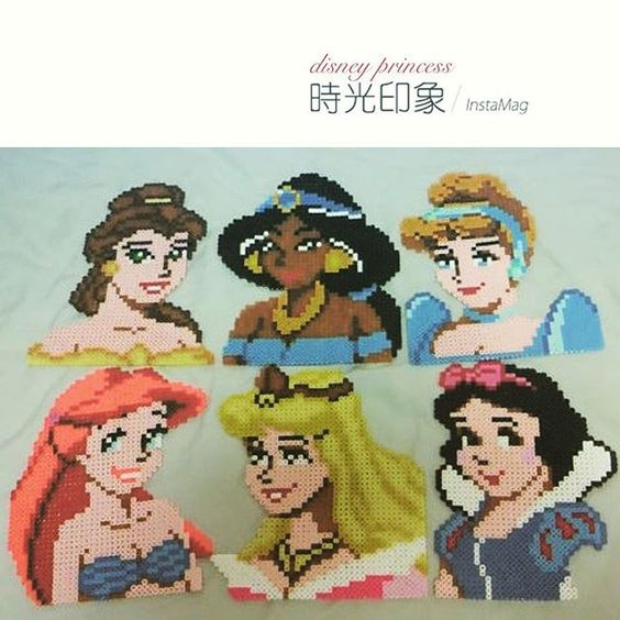 Disney Princess perler beads by 1024830y