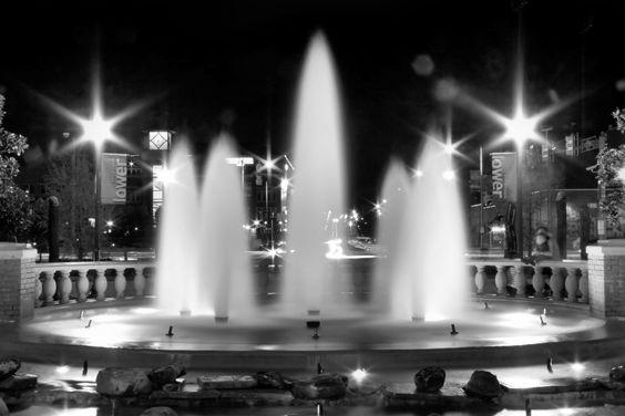 Fountain Down Town Bricktown Okc