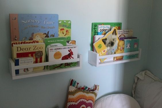 Spice Racks Turned Wall-Mounted Book Shelves