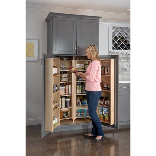 Hardware Resources 12 Inch Width Pantry Door Mount Cabinet Organizer Wood Min Cabinet Opening 13 Inch Width X 48 Inch Height Pdm45 In 2020 No Pantry Solutions Cabinet Organization Minimalist Kitchen
