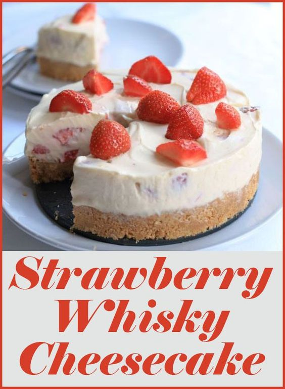 The marriage of strawberries, whisky and cheesecake brings together this fantastic fresh, indulgent pudding. Perfect for dinner parties with fresh strawberries. Just leave out the whisky for an equally fantastic strawberry cheesecake!