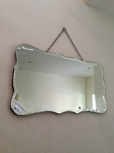Espejo sin marco Art Decó con bordes por ReclecticEmporium en Etsy