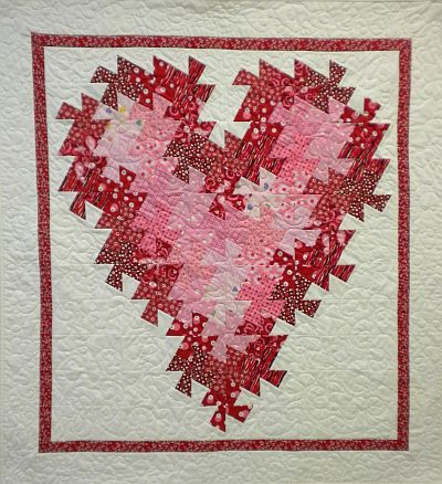 Heart pattern from quilt n sew website