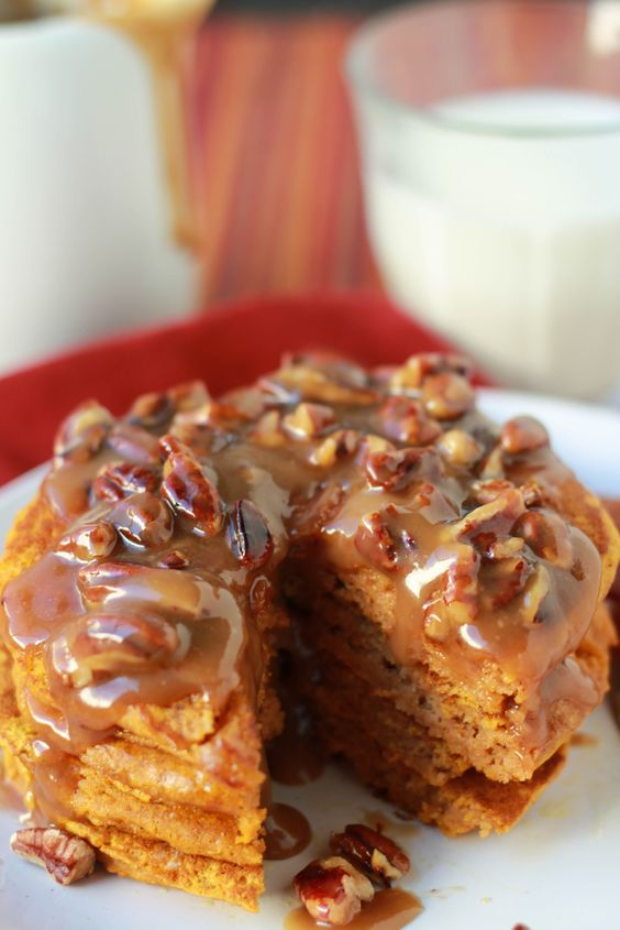 the perfect compliment to spiced pumpkin pancakes. The crunchy pecans ...