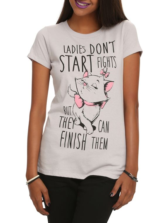 Disney The Aristocats Marie Ladies Don't Start Fights Girls T-Shirt | Hot Topic