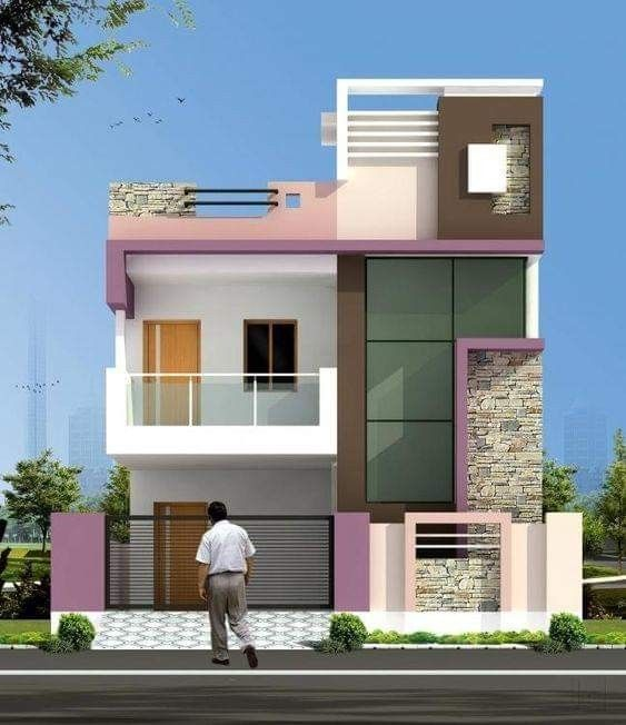 50 Awesome House Design Ideas In 2020 Small House Elevation Design Small House Elevation 2 Storey House Design