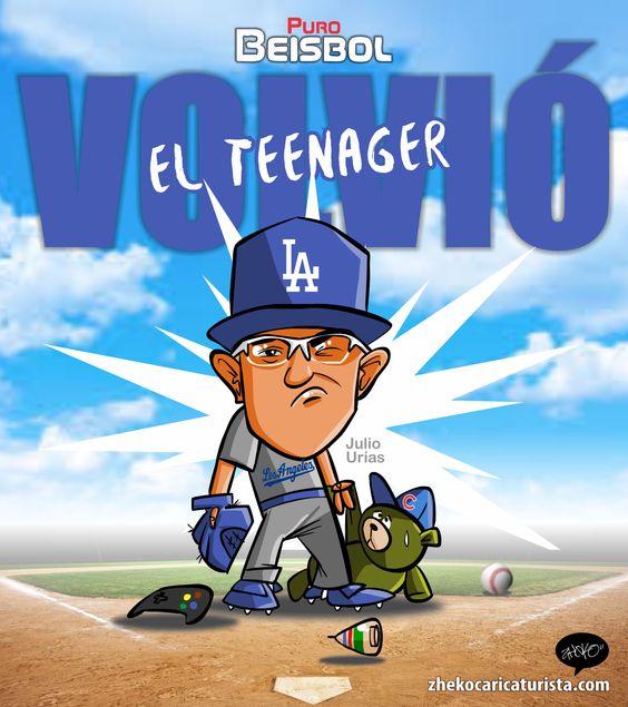 "#ElCartonDelDia para @purobeisbolfb ""ESTÁ DE REGRESO"" @Dodgers @LosDodgers @DodgersNation @theteenager7 #Urias"