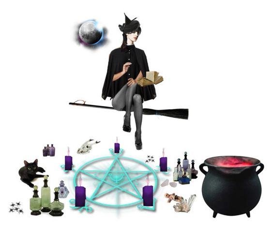 """""""casting a spell"""" by iojupiter ❤ liked on Polyvore featuring art, Halloween, magic, witch, witchcraft and magick"""