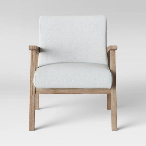 Maynard Wood Frame Accent Chair With, Occasional Chairs With Wood Arms
