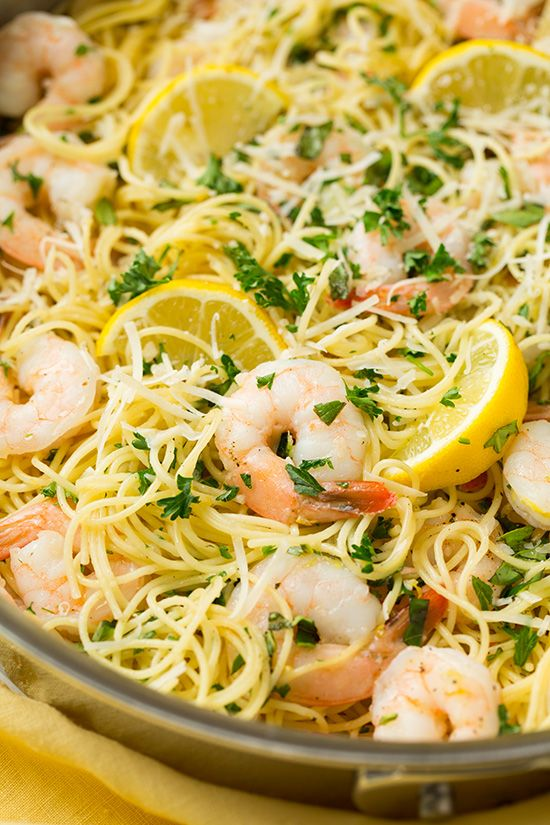 Pasta with shrimp, Angel hair and Angel on Pinterest
