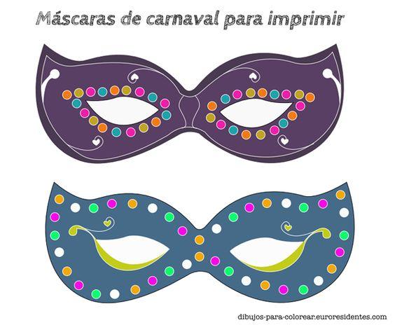 Carnival mask for print m scaras de carnaval para - Mascaras para carnaval ...
