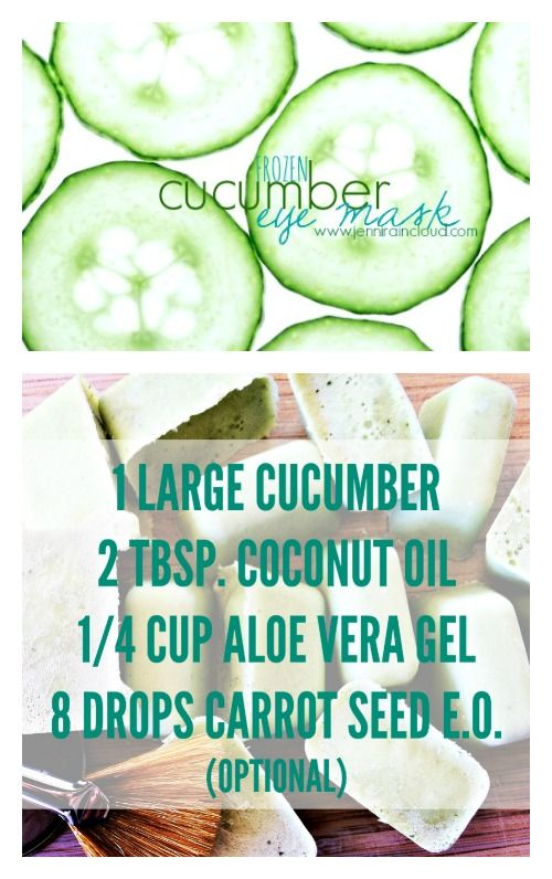 DIY Frozen Cucumber Eye Mask: