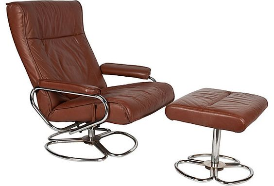 Leather recliner Vintage market and Recliners on Pinterest