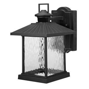 Replacing Exterior Wall Lights : Hampton Bay Lumsden Outdoor Black LED Motion Sensor Wall Mount Lantern Wall mount, Home and Black