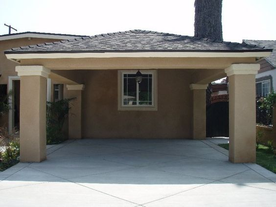 Carports do not have to be boring la home remodeling for Brick carport designs